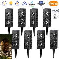 COCOZ 6/8Pcs Luci Solari Hollow Solar Powered LED Da Giardino Per Esterni Impermeabile Per Yard Garden Path