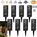 COCOZ 6/8Pcs Solar Lights Hollow Solar Powered LED Garden Outdoor Waterproof For Yard Garden Path