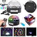18 шт. светодиодный диско-свет MP3-плеер Bluetooth динамик диско шар лазерные Вечерние огни AC110-240V 9 цветов дистанционное управление DJ сценическая л...