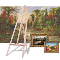 Aibecy Durable Art Artist Wood Wooden Easel Sketch Drawing Stand NZ Pine for Painting Sketching Display Exhibition
