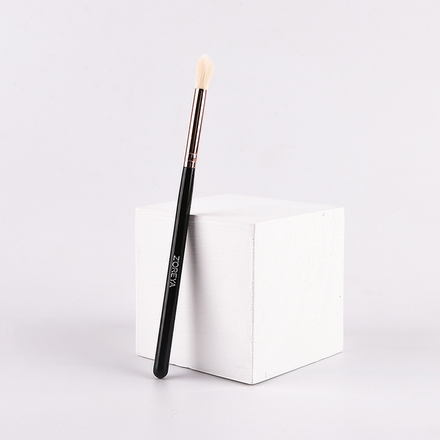 zoreya Brand Black Crease Makeup Brushes Soft Synthetic Hair Portable Eye Makeup Set Travel Cosmetic Brush For Make Up 4