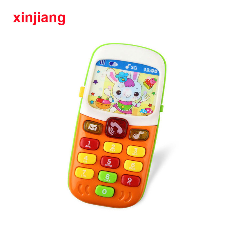 Baby Music Sound Cellphone Mobile Phone Electronic Toy Telephone Baby Infant Educational Toys For Kids Random Color