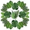90 künstliche Palm Blätter mit Stem für Tropical Party Dekoration Aloha Dschungel Strand Jahrestag Palm Blätter-in Künstliche Pflanzen aus Heim und Garten bei