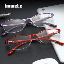 Imwete Reading Glasses Women Anti-fatigue Optical Hyperopia Glasses
