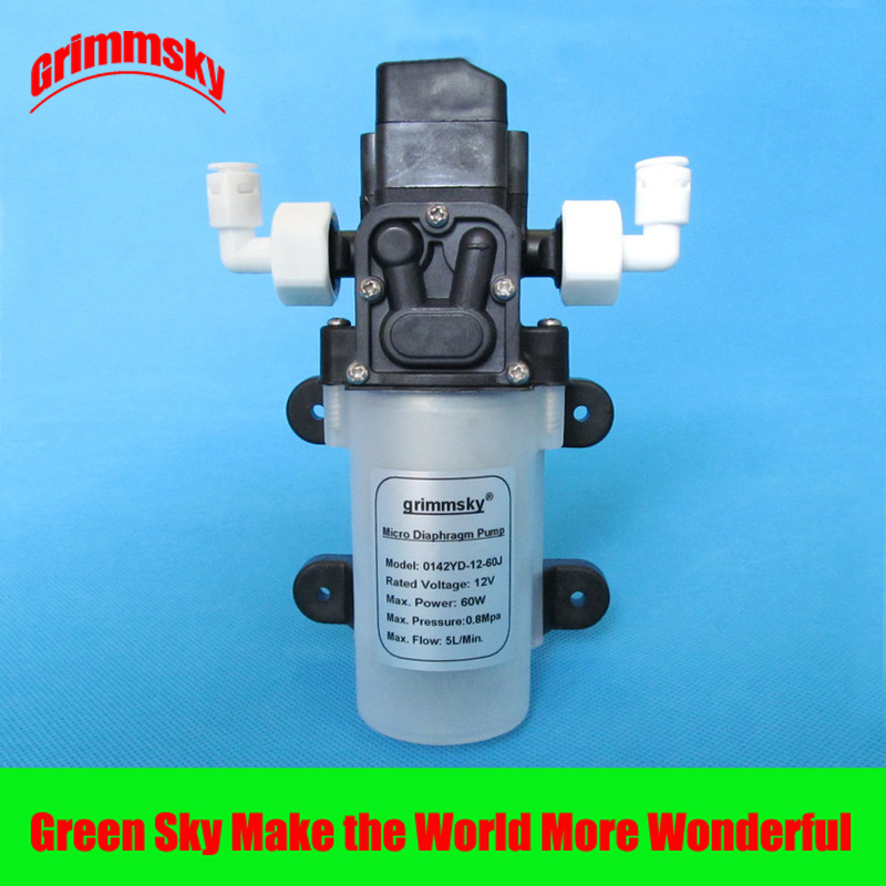 5L/Min 12V 60W water purifier water filter system shower car wash pressurized booster pump