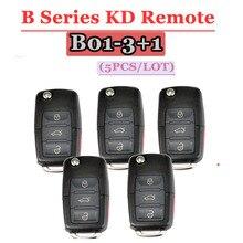 KEYDIY KD מפתח B01 שלט רחוק 3 + 1 כפתור B סדרת שלט רחוק עבור פולקסווגן סגנון עבור KD900(KD200) מכונה (5 יח\חבילה)