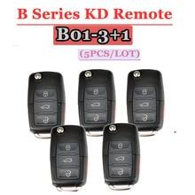 Keybricolage KD Key B01 télécommande 3 + 1 bouton série B télécommande pour VW Style pour KD900(KD200) Machine (5 pièces/lot)