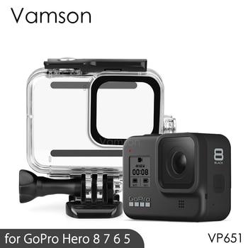 Vamson for Gopro Hero 8 7 6 5 Black 45M Underwater Waterproof Case Camera Diving Housing Mount GoPro Accessory VP630 - discount item  41% OFF Camera & Photo