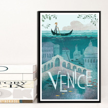 Home Decor Berlin Wall Art Venice Canvas Painting Toulouse Print Poster Famous Travel Cities Modular Picture Cuadros For Bedroom