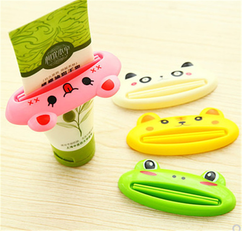 Cartoon Bathroom Dispenser Toothpaste 1pc/lot Lovely Animal Tube Squeezer Easy Squeeze Paste Dispenser Roll Holder