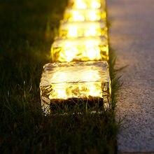 Lampe solaire encastrable dans le sol en forme de Cube de glace, idéal pour un jardin, une pelouse, des escaliers ou un sentier, 4 unités
