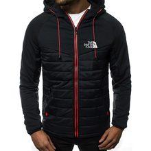 New menswear hoodie north logo spring/summer jacket casual sweatshirt long sleeve zippered hoodie