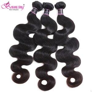 Image 1 - Body Wave Brazilian Hair Weave Bundles 100% Remy Human Hair Bundles 30 32 34 Inches Natural Color 1/3/4 Bundles Hair Extensions