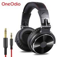 Oneodio profesional DJ Studio auriculares con cable auriculares para monitores sobre oído grabación Auriculares auriculares estéreo para el ordenador