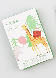 L10- Forest Animal Paper Greeting Card Lomo Card(1pack=28pieces)
