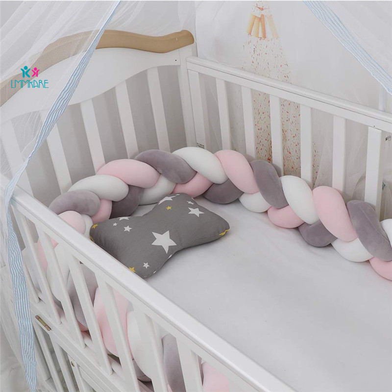 Lion Paw Crib Bumper Pillow Cushion 78.7in Crib Sides Protector Infant Cot Rails Newborn Gift Knotted Brai (1)