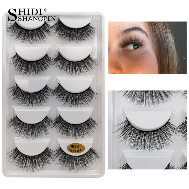 5 Pairs Natural long Eyelashes Makeup False Eyelashes Full Strip Lashes Mink Eyelashes Thick 3d Mink Lashes maquillaje faux cils 2