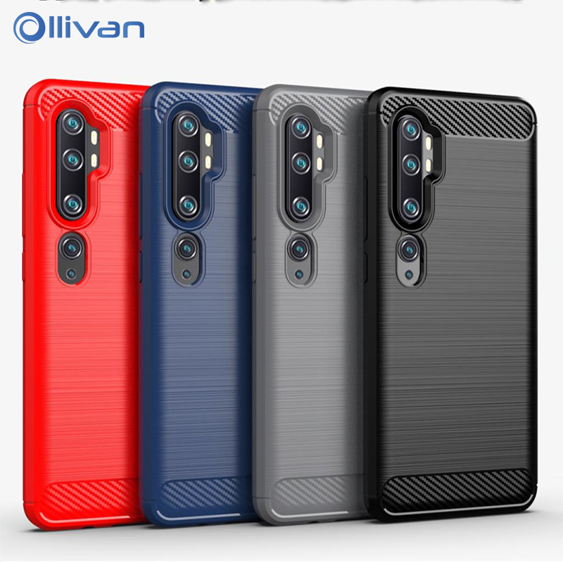 Soft Carbon Fiber Bumper <font><b>Case</b></font> For <font><b>XiaoMi</b></font> Mi A3 Note 10 8 Lite <font><b>XioMi</b></font> <font><b>RedMi</b></font> 8A 7A K20 Note <font><b>6</b></font> 7 8 Pro 8T Silicone Protection <font><b>Cover</b></font> image