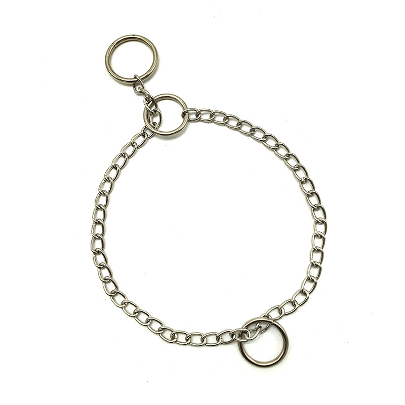40cm Dog Necklace Pet ChYer Supporting Metal Chain Small Medium-sized Dog Usable Gou Xiang Lian