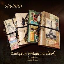 Cuaderno para viajeros, planificador de viaje A6 de cuero vintage creativo, diario de notas, cuaderno de calendario diario de viaje, cuaderno diario planificador