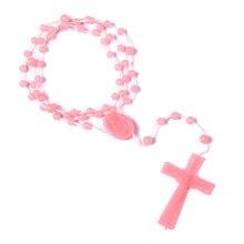 Ожерелье с подвеской крест Иисуса Христа Длинная цепочка из сплава с бусинами для мужчин и женщин Дева Мария христианские модные ювелирные ...