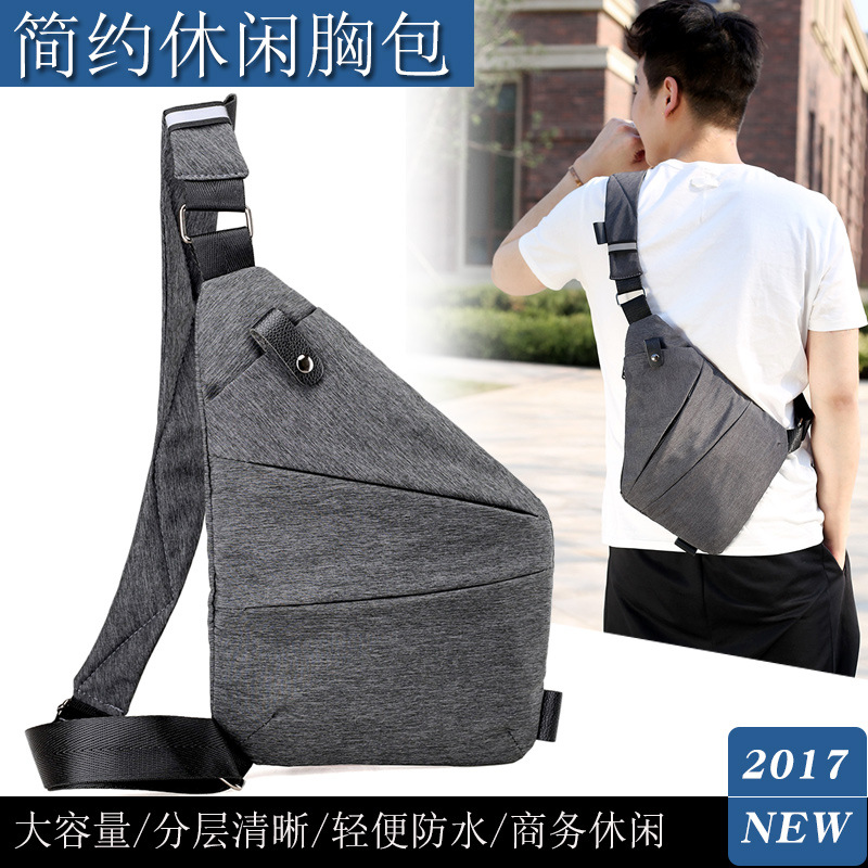 Digital Storage Gun Pack Men Canvas Chest Bag Shoulder Sports Waist Pack Multi-functional Service Body Hugging Shoulder Theft