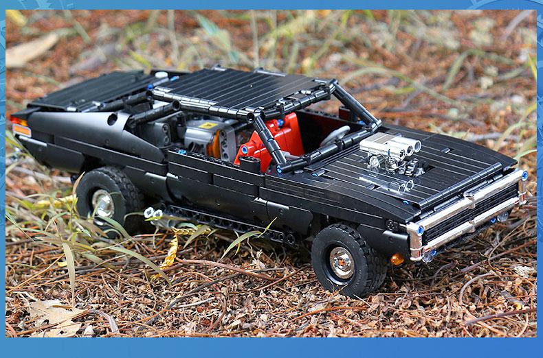 MOULD KING 13081 MOC 17750 Technic Ultimate Muscle Car Building Block (1098PCS) 11