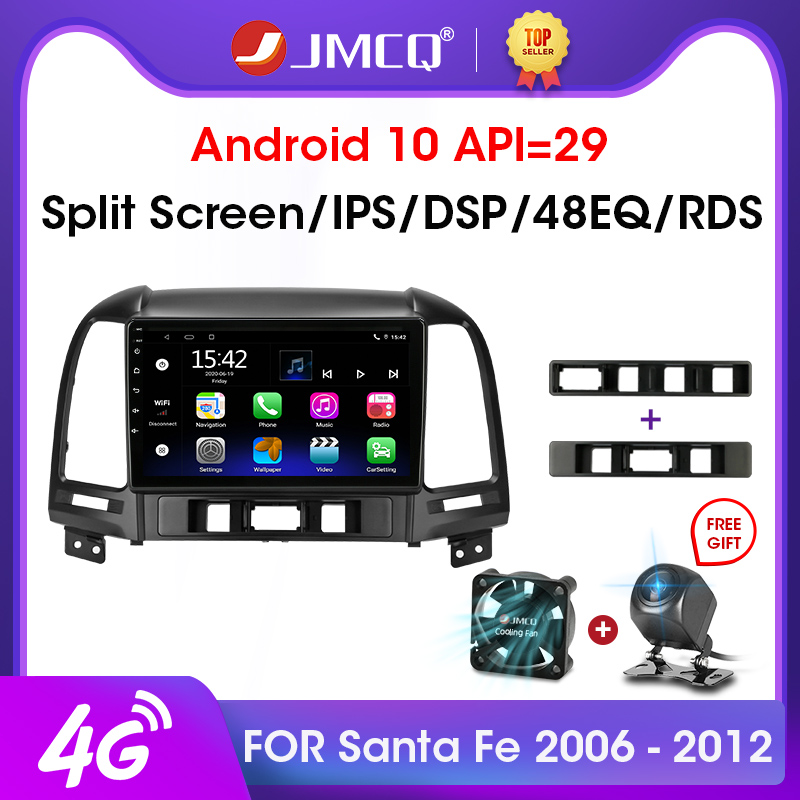 JMCQ Android 9,0 2 ГБ + 32 ГБ DSP автомобильное радио Multimidia видео плеер навигация GPS для Hyundai Santa Fe 2 2006-2012 2din головное устройство