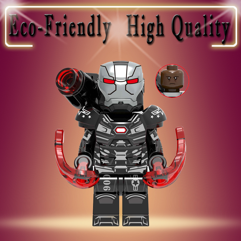 Super Heroes Marvel Avengers War Machine Iron Man Thanos Thor spiderman Captain America Hulk Building Blocks kid toy gift XH1309