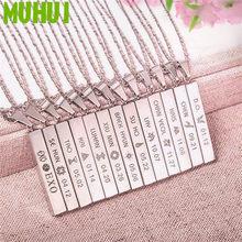 Kpop EXO ожерелье из титановой стали для женщин BAEK HYUN Чан Ёль LUHAN SEHUN ожерелье на день рождения мужские ювелирные изделия B211