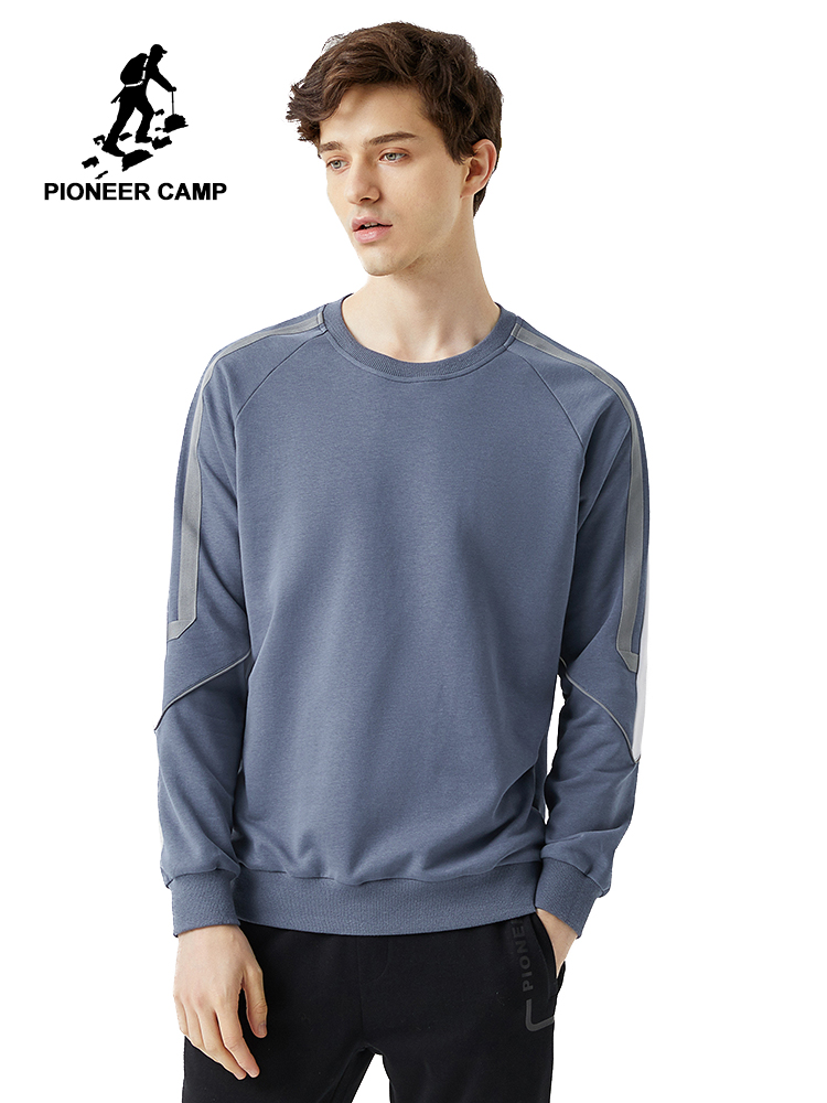 Pioneer Camp Stripe Hoodies Men Cotton O-neck Causal Streetwear Spring Sweatshirts For Male 2020 AWY0121013