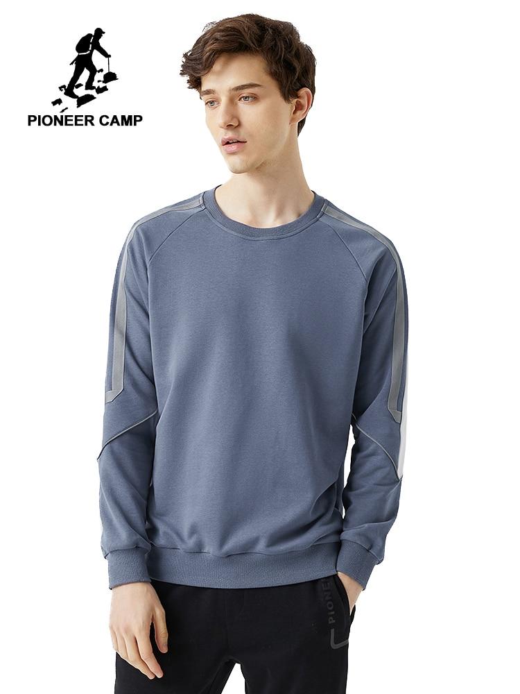 Pioneer Camp Stripe Hoodies Men Cotton O-neck Causal Streetwear Spring Sweatshirts For Male 2020 AWY0121013