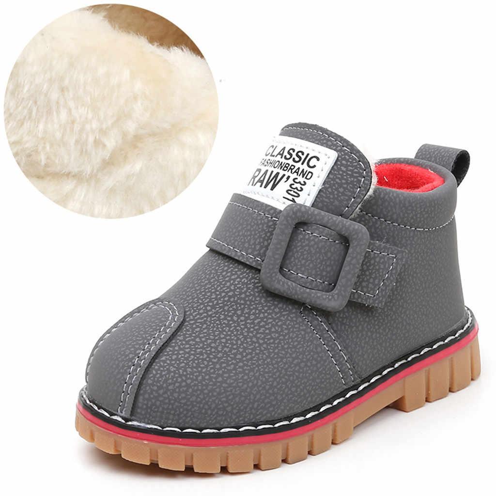 Kinder Kind Baby Mädchen Jungen Stiefel Ankle Sport Kurze Booties Anti-slip Casual Schuhe Solide Hook & Loop Gummi stiefel Für Kinder