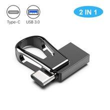 Mini clé USB 3.0 étanche OTG type-c, support à mémoire de 32GB 64GB 128GB, pour téléphone Android