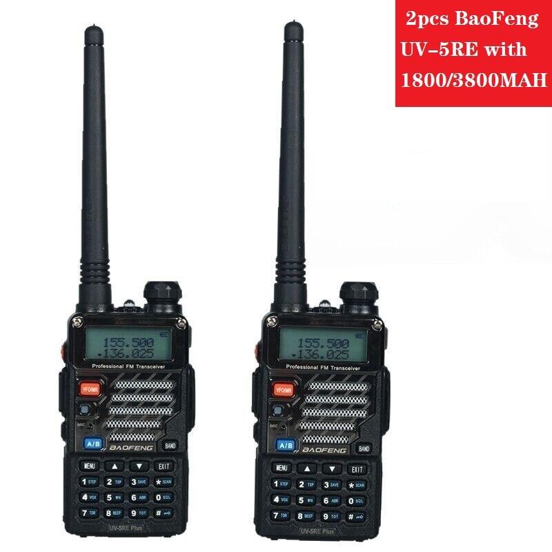 2pcs UV-5RE Hot Selling Walkie Talkie Baofeng UV-5RE Dual Band Standby Two Way Radio UV-5R upgrade version talkie CB radio