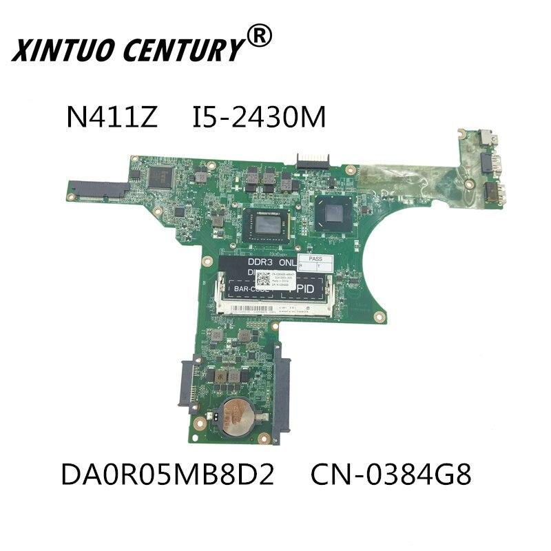 DA0R05MB8D2 CN-0384G8 0384G8 384G8 для DELL Inspiron 14Z N411Z материнская плата портативного компьютера с I5-2430M Процессор бортовой HM67 DDR3