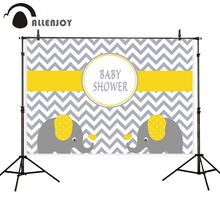 Allenjoy photography backdrops chevron yellow elephant baby shower birthday backgrounds for photo studio photography background