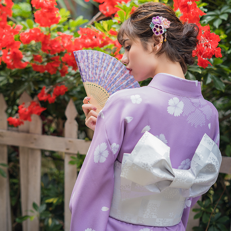 Japan Kimono Cummerbunds Women's Dress Accessory Beautiful Butterfly Yukata Waistbands Cosplay Wear Vintage Style