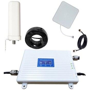 2G 3g 4G LTE трехдиапазонный усилитель сигнала сотового телефона 70dB GSM 900 1800 WCDMA 2100 Mhz мобильный сотовый сигнал повторитель антенный набор