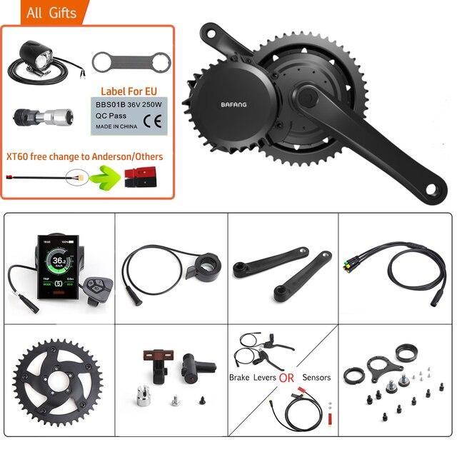 Bafang 48 в 1000 Вт BBSHD/BBS03B 40т Средний диск ручной Электрический миксер для теста BB 68 73 мм велосипедные комплекты для конверсии 8FUN для е байка мощный мотор Дисплей