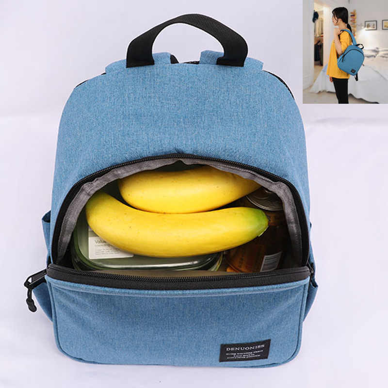 DENUONISS ยี่ห้อสีเทา Cooler กระเป๋าเป้สะพายหลังกันน้ำกระเป๋าเด็ก MINI Soft Thermal กระเป๋าเป้สะพายหลัง