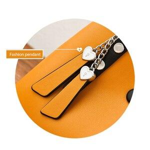 Image 5 - ZMQN Bolso de mano de piel para mujer, bandolera informal, color amarillo, de diseñador, de hombro, A818, 2020
