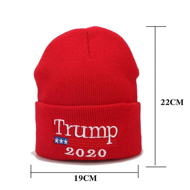Trump 2020 вышивка шляпы Президента сделать Америку снова большой хлопок трикотажные шапочки черный красный MAGA теплая шляпа на зиму Осень Шапки