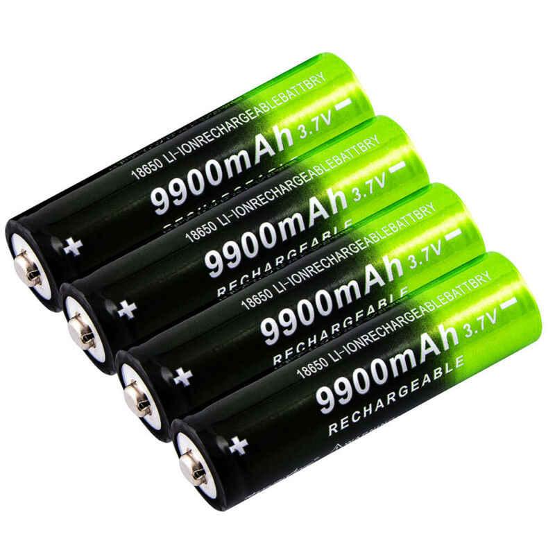 GTF 3.7V 18650 9900mAh 充電式バッテリー高容量リチウムイオン二次電池懐中電灯トーチヘッドランプバッテリー