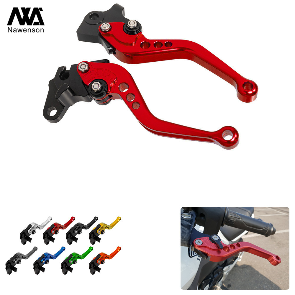 CNC Adjustable Short Motorcycle Brake Clutch Levers Set Handle For <font><b>Honda</b></font> VFR800/F 2002-2018 <font><b>CBF1000</b></font> 2006-2009 VFR750 1991-1997 image
