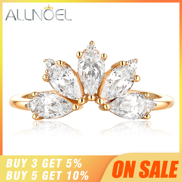 Dropshipping  925 Sterling Silver Rings For Women 5A Zircon Diamond Gemstones Real Gold Plated Designer jewelry Stackable Rings 1