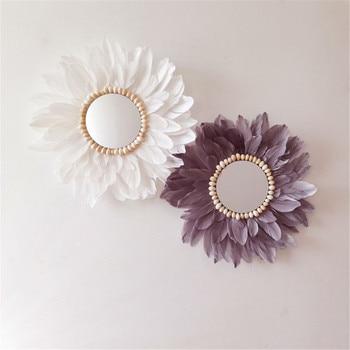 Lotus Flower Macrame Mirror Wall Hanging