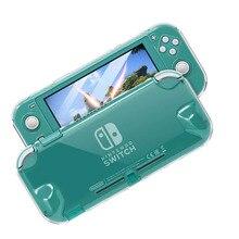 クリア pc ハードケース保護カバーシェル nintend スイッチ lite ns ミニゲームコンソールクリスタル透明フルボディプロテクター