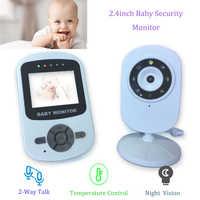 Monitor de bebé de pantalla de 2,4 pulgadas de largo alcance con visión nocturna infrarroja cámara de bebé de conversación de 2 vías con pantalla de temperatura