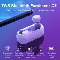 QCY-auriculares inalámbricos QS1 con TWS, Bluetooth, BT5.0, estéreo 3D, llamada HD, batería de 380mAh, controlador dinámico de 6mm